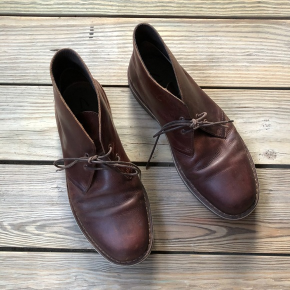 7a4a4a9a13d Clarks Bushacre 2 Dark Brown Leather Boots